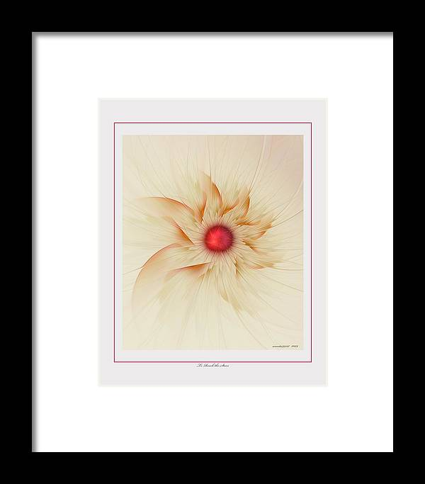 Fractal Framed Print featuring the digital art To Reach The Stars by Gayle Odsather