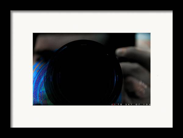 Nikon Framed Print featuring the photograph To Say Of You by Jonathan Ellis Keys
