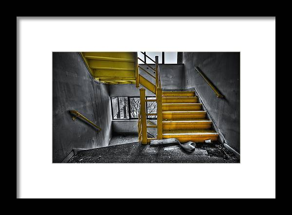 Stair Framed Print featuring the photograph To The Higher Ground by Evelina Kremsdorf