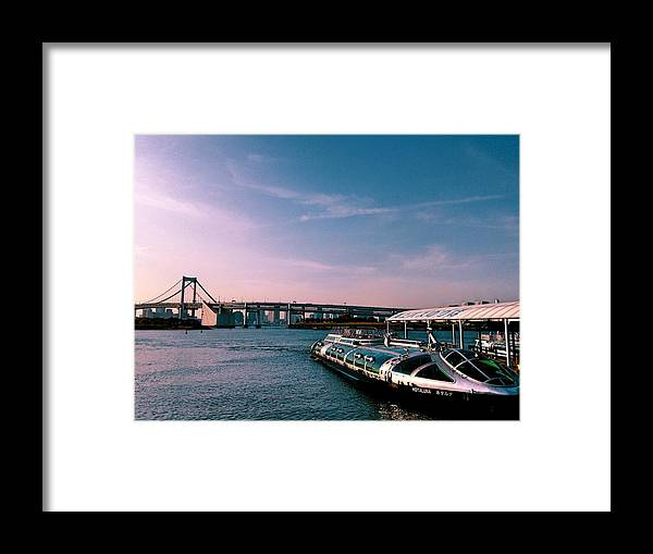 Landscape Framed Print featuring the photograph To the space from sea by Momoko Sano