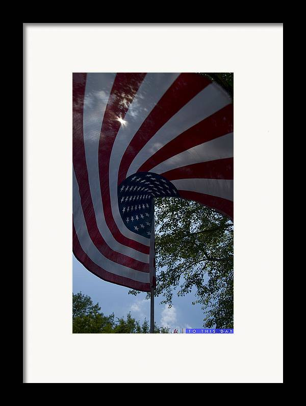 Flag Framed Print featuring the photograph To This Day by Jonathan Ellis Keys