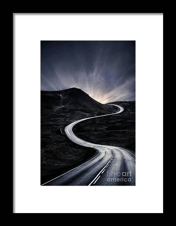 Kremsdorf Framed Print featuring the photograph To Where The Darkness Ends by Evelina Kremsdorf