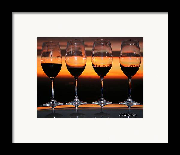 Photograph Framed Print featuring the photograph Toast At Sunset Photograph by Caron Sloan Zuger