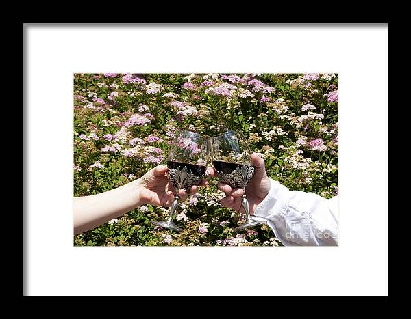 Alcohol Framed Print featuring the photograph Toast by Karen Foley