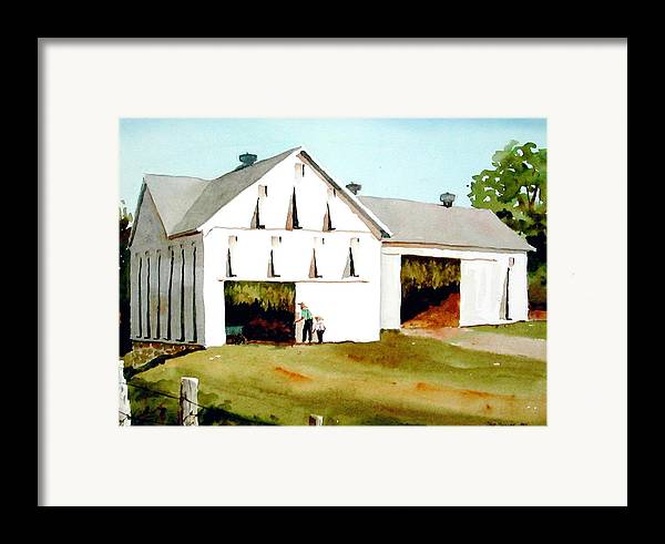 Tobacco Framed Print featuring the painting Tobacco Barn by Faye Ziegler