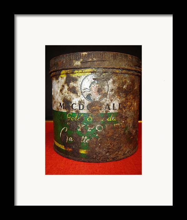 Antiques Framed Print featuring the photograph Tobacco Can by Dean Corbin