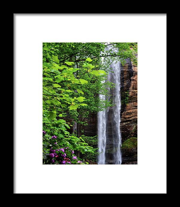 Waterfall Framed Print featuring the photograph Toccoa Falls In Georgia by Eva Thomas
