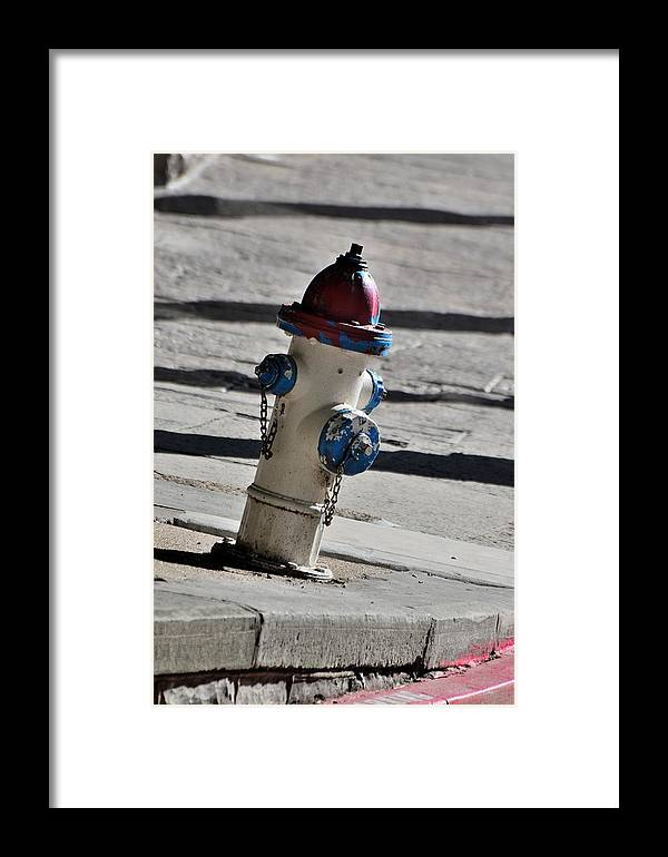 Streets Framed Print featuring the photograph Todays Art 1307 by Lawrence Hess