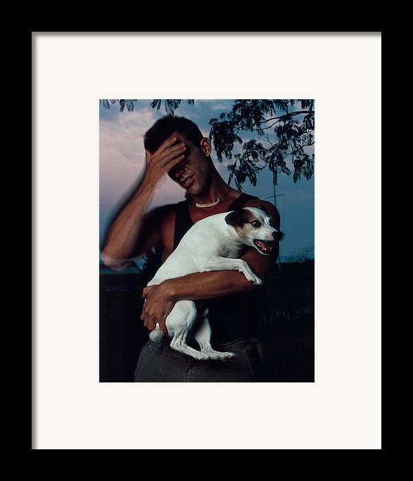 Male Framed Print featuring the photograph Todd And Winston by Rusty Walton
