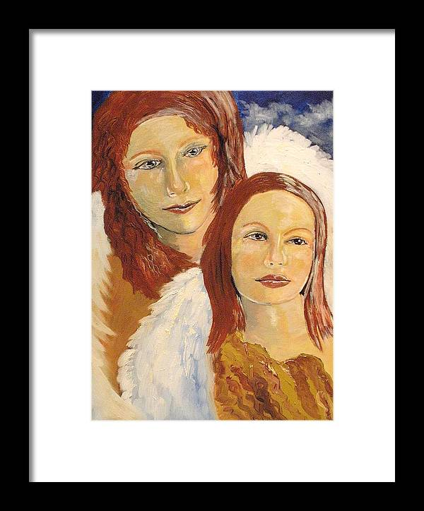 Mother Framed Print featuring the painting Together by J Bauer