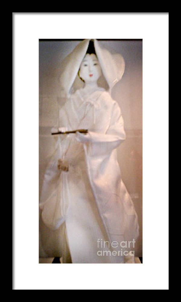 Tokyo Framed Print featuring the photograph Tokyo Wedding by Laurent Sylla