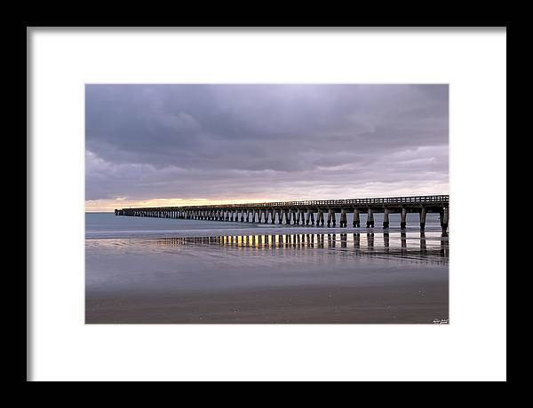 New Zealand Framed Print featuring the photograph Tolaga Bay Pier by Andrea Cadwallader