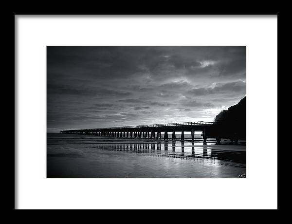 Tolaga Framed Print featuring the photograph Tolaga Bay Pier Iv by Andrea Cadwallader