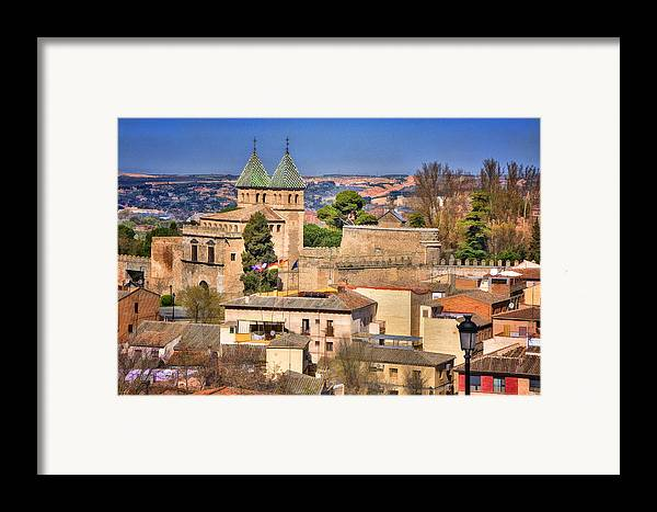 Ancient Framed Print featuring the photograph Toledo Town View by Joan Carroll