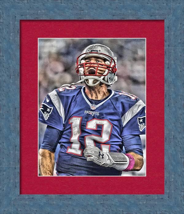 Tom Brady Art 5 by Joe Hamilton