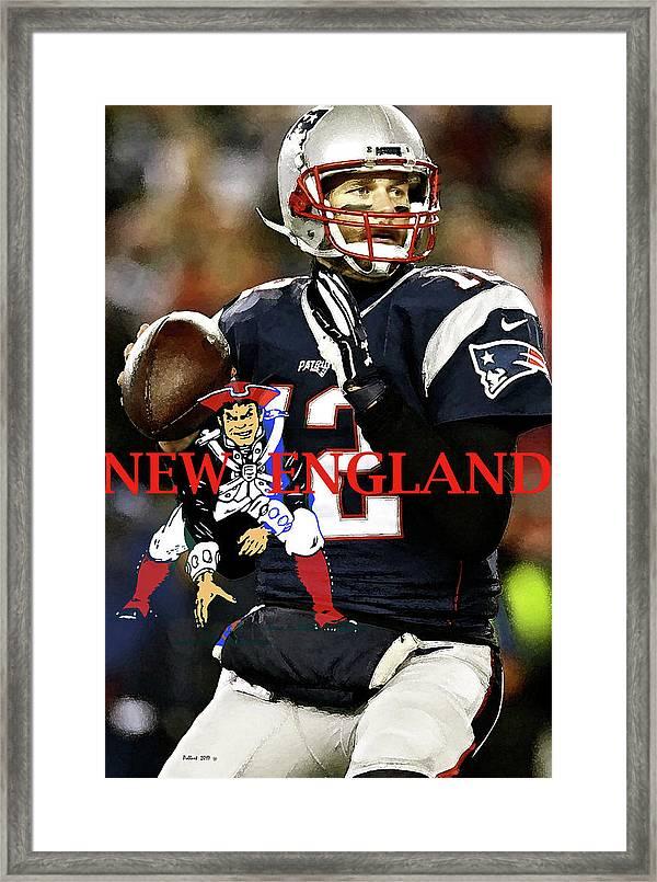 Tom Brady Number 12 New England Patriots Captain America Framed