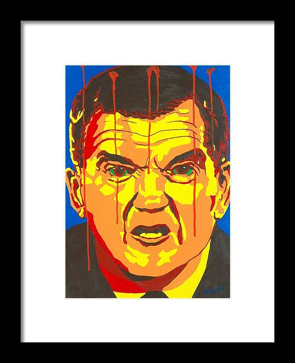 Politics Framed Print featuring the painting Tom Ridge by Dennis McCann