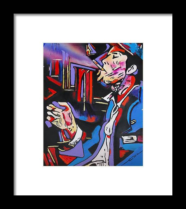 Tom Waits Framed Print featuring the painting Tom Traubert's Blues by Eric Dee