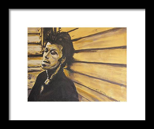 Tom Waits Framed Print featuring the painting Tom Waits by Eric Dee