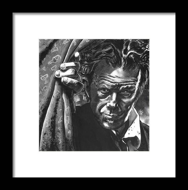 Musicians Framed Print featuring the mixed media Tom Waits by Ken Meyer
