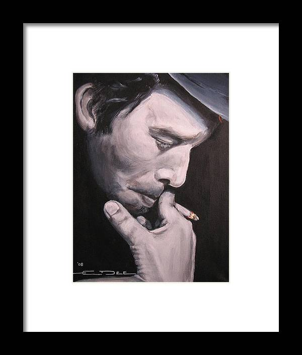 Tom Waits Framed Print featuring the painting Tom Waits Two by Eric Dee
