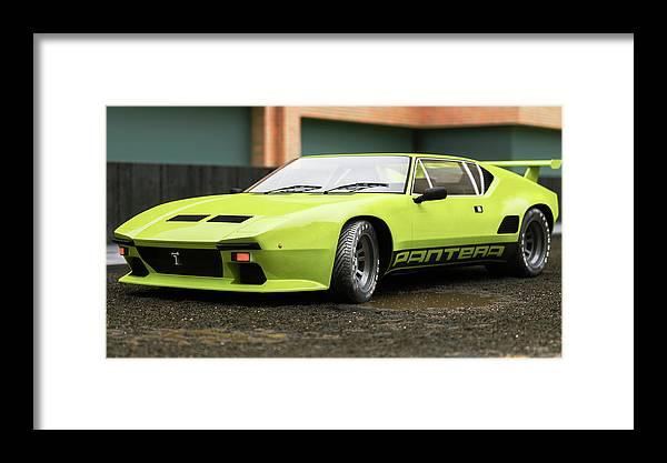 Car Framed Print featuring the digital art Tomaso - Pantera 2- Cgi -71 by Ricardo Mota
