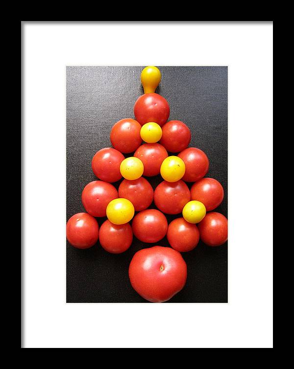 Tomatoes Framed Print featuring the photograph Tomatoe Tree by Jeanette Oberholtzer