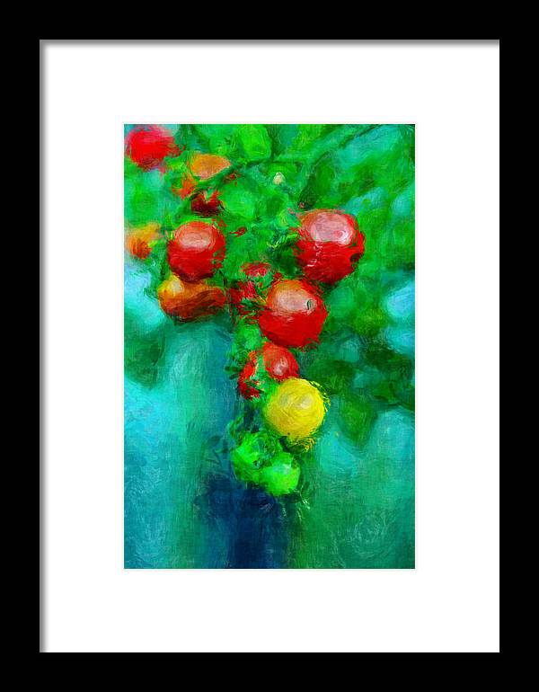 Tomatos Framed Print featuring the photograph Tomatos by Pedro Rossi