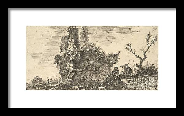 18th Century Art Framed Print featuring the relief Tomb Of The Three Curiatii Brothers In Albano by Giovanni Battista Piranesi