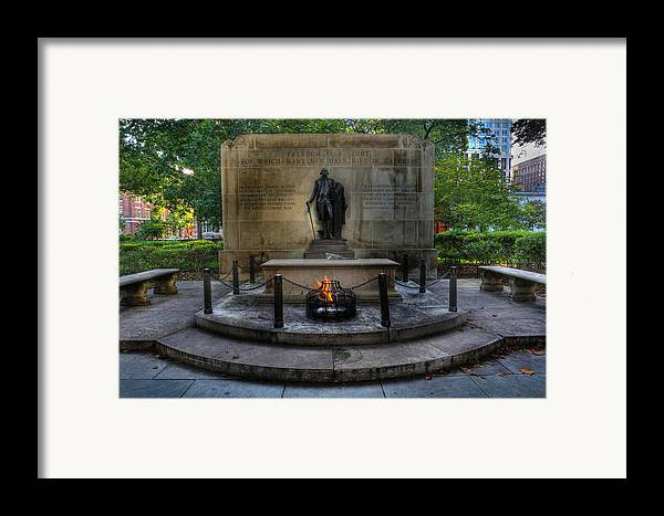 Lee Dos Santos Framed Print featuring the photograph Tomb Of The Unknown Revolutionary War Soldier - George Washington by Lee Dos Santos