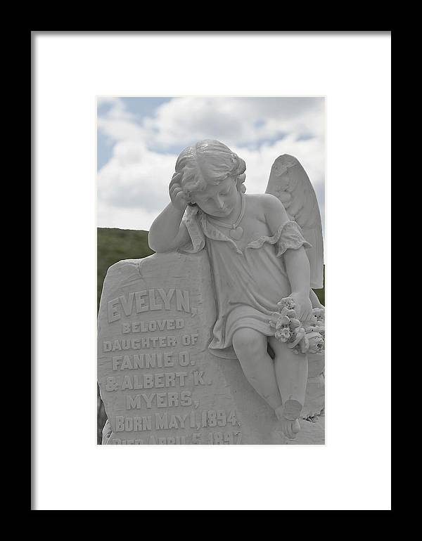 Bodie Framed Print featuring the photograph Tombstone Angel For An Angel by Christine Till