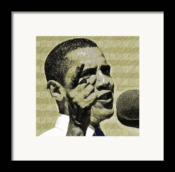 Barack Framed Print featuring the digital art Tomorrows Hope by LeeAnn Alexander