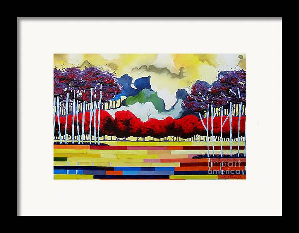 Landscape Framed Print featuring the painting Tomorrows Yesterday by Joseph Palotas