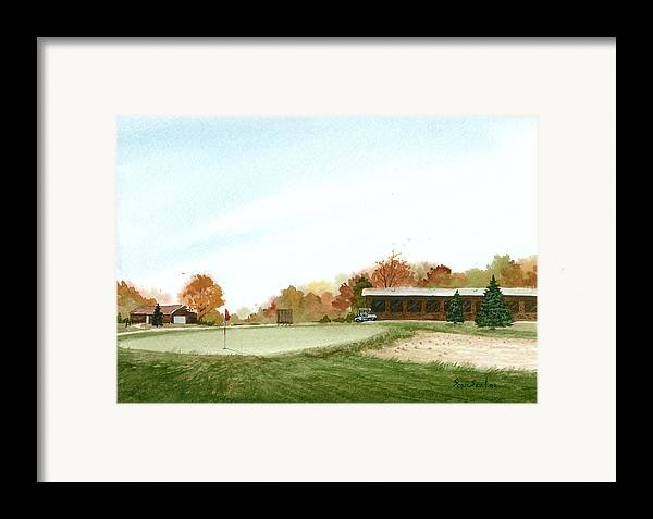 Golf Framed Print featuring the painting Tom's Golf Course by Sean Seal