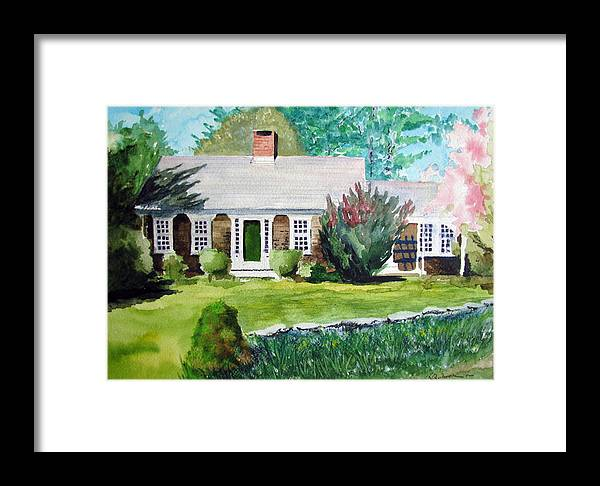 Landscape Framed Print featuring the painting Toms House by Ron Imbriglio