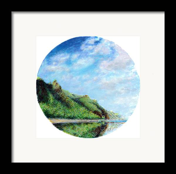 Coastal Decor Framed Print featuring the painting Tondo by Kenneth Grzesik