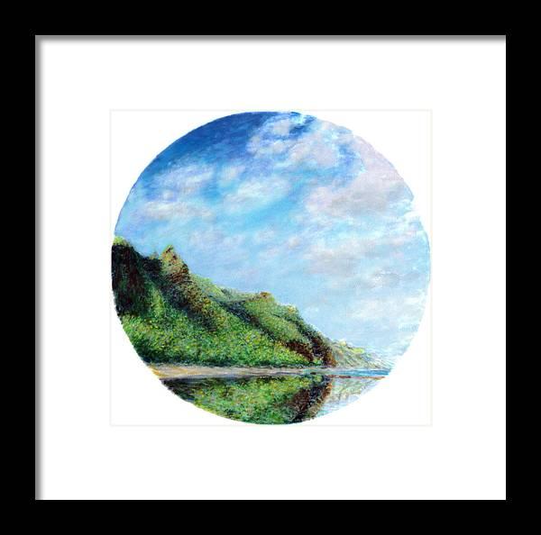 Coastal Decor Framed Print featuring the painting Tondo by Kenneth Grzesik