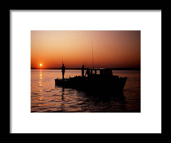 Maritime Framed Print featuring the photograph Tonger's Sunrise by Skip Willits