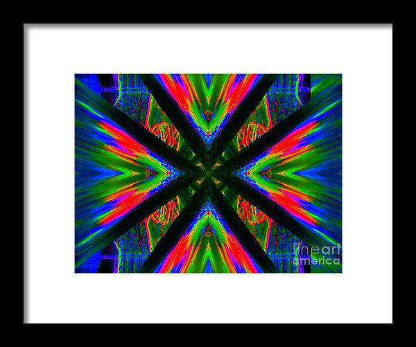 Lorles Lifestyles Framed Print featuring the digital art Tongue Of Fire by Lorles Lifestyles