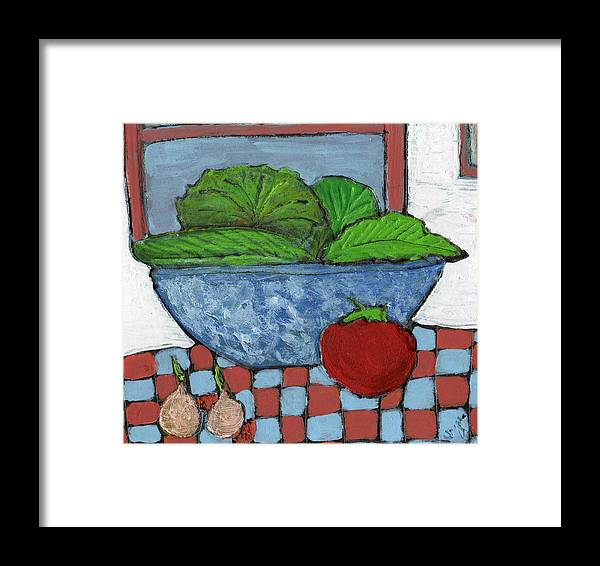 Food Framed Print featuring the painting Tonight's Salad by Wayne Potrafka