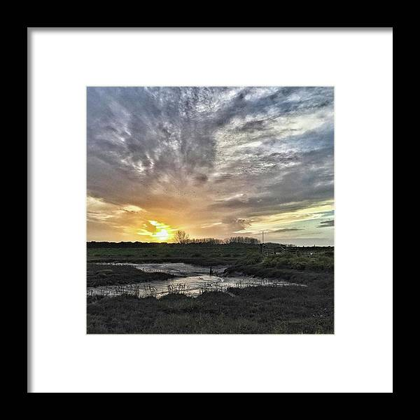 Natureonly Framed Print featuring the photograph Tonight's Sunset From Thornham by John Edwards
