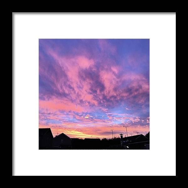 Natureonly Framed Print featuring the photograph Tonight's Sunset Over Tesco :) #view by John Edwards