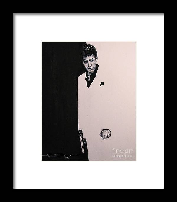 Al Pacino Framed Print featuring the painting Tony Montana - Scarface by Eric Dee