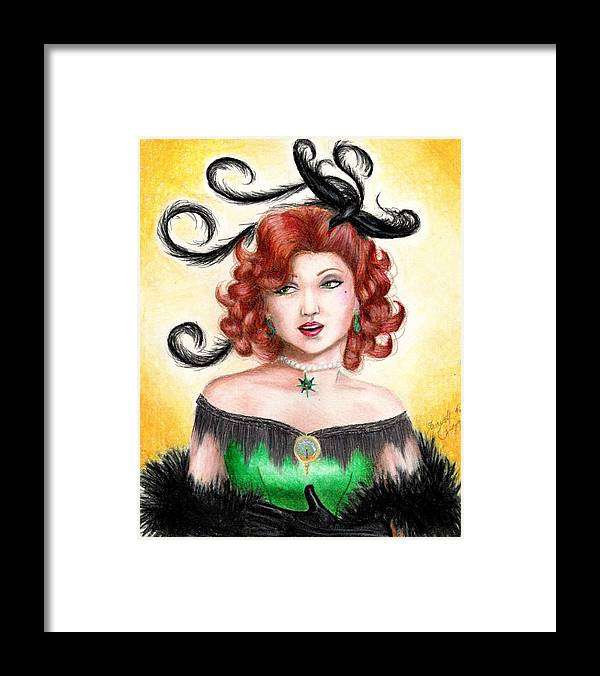 Saloon Framed Print featuring the drawing Tonya by Scarlett Royal