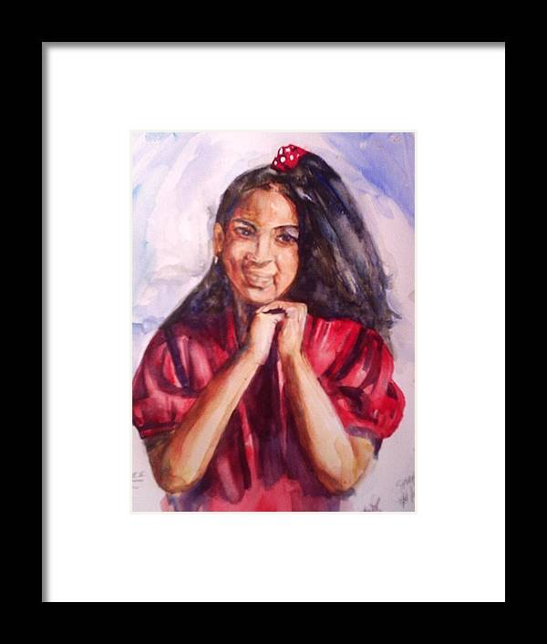 Portrait Framed Print featuring the painting Tooter by Impressionist FineArtist Tucker Demps Collection