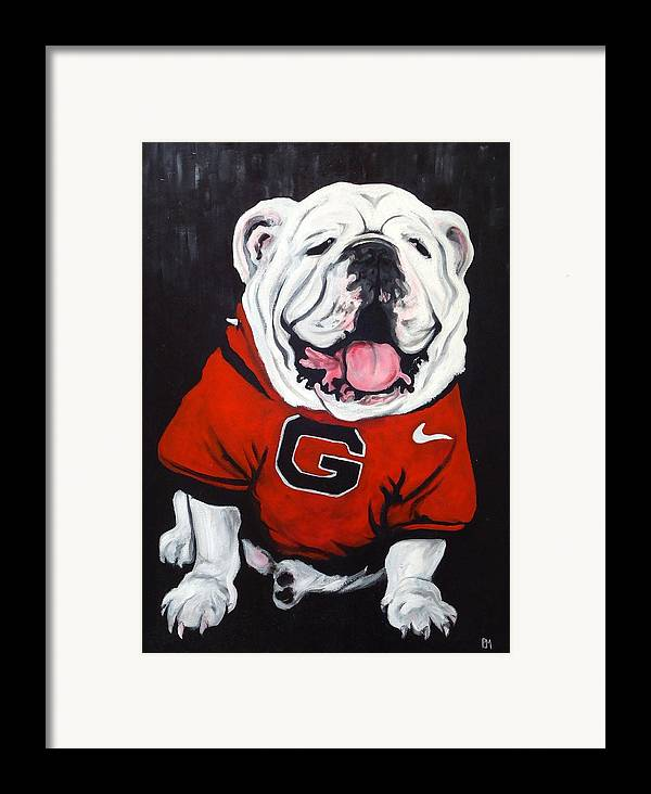 Bulldog Framed Print featuring the painting Top Dawg by Pete Maier