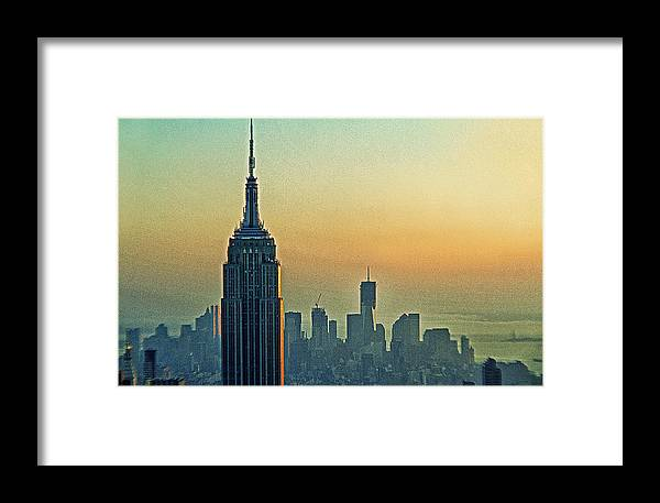 Empire State Building Framed Print featuring the photograph Top Of The Empire by Alex AG