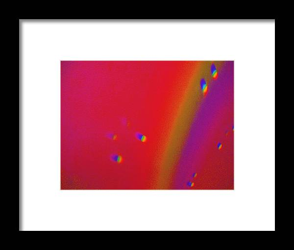 Fill Like Setting On Top Of The Rainbow. Framed Print featuring the painting Top Of The Rainbow by Nereida Slesarchik Cedeno Wilcoxon