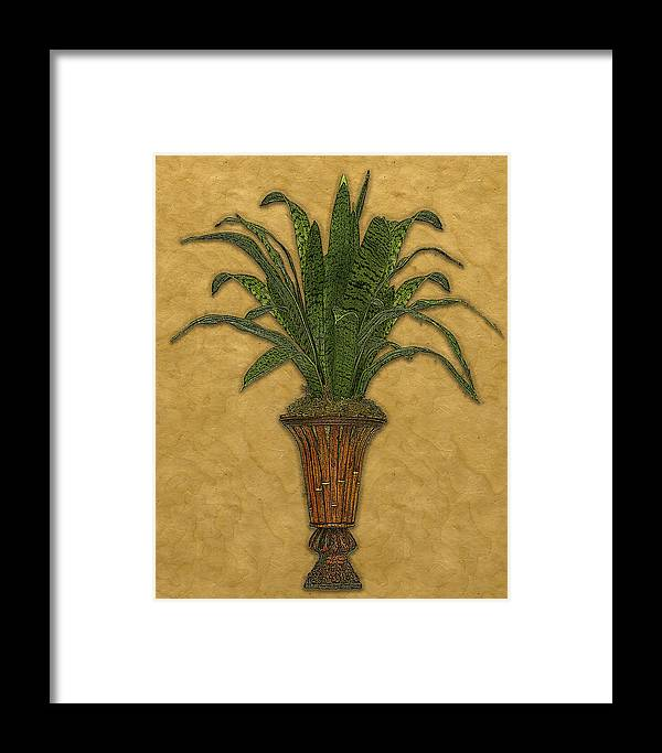 Topiary Framed Print featuring the painting Topiary 1 by Carol Peck