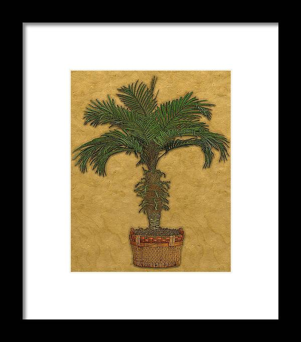 Topiary Framed Print featuring the painting Topiary 3 by Carol Peck